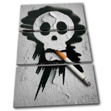 Smoking Skull Graffiti - 13-0444(00B)-TR32-PO
